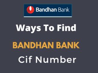 find bandhan bank cif number
