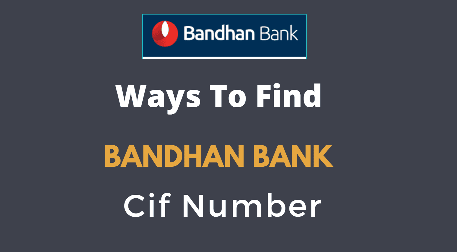 find bandhan bank cif number