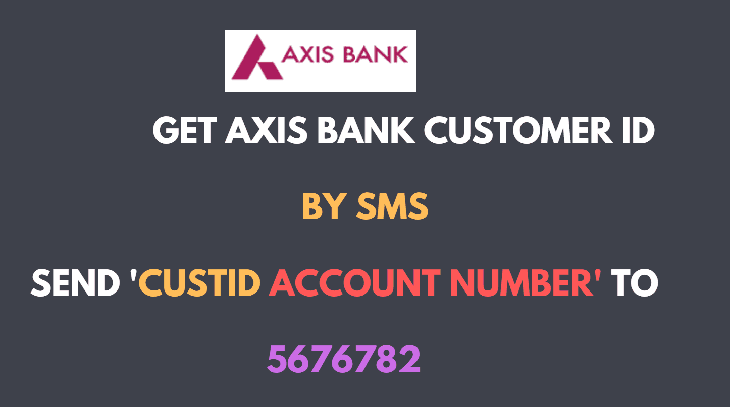 get axis bank customer id by sms