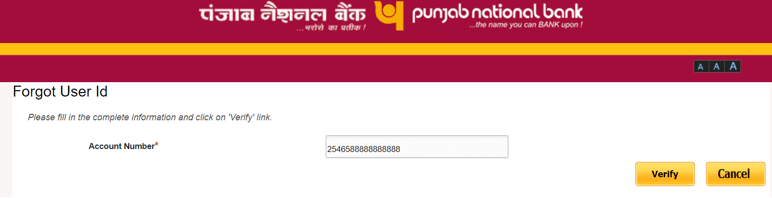 verify account number pnb