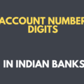 account number digits in indian banks