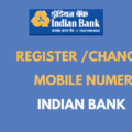register change mobile number in indian bank