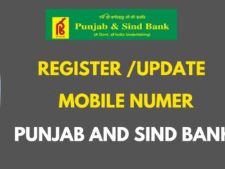 register update mobile number in punjab and sind bank