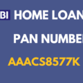 sbi home loan pan number