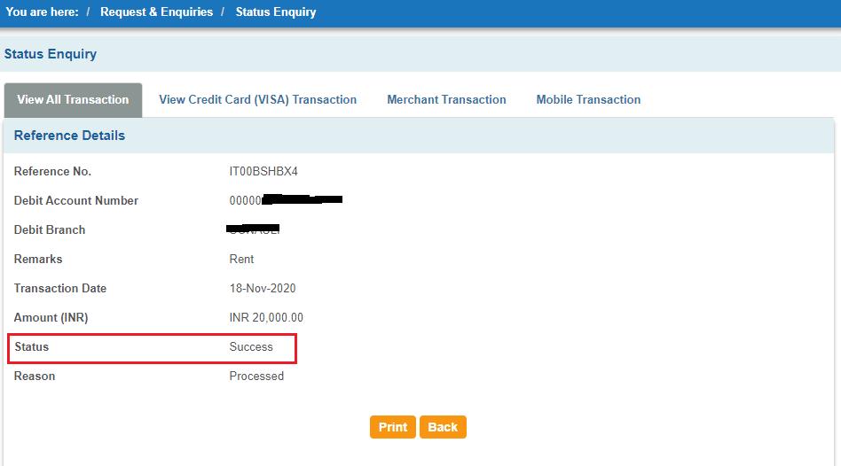 sbi transaction status final