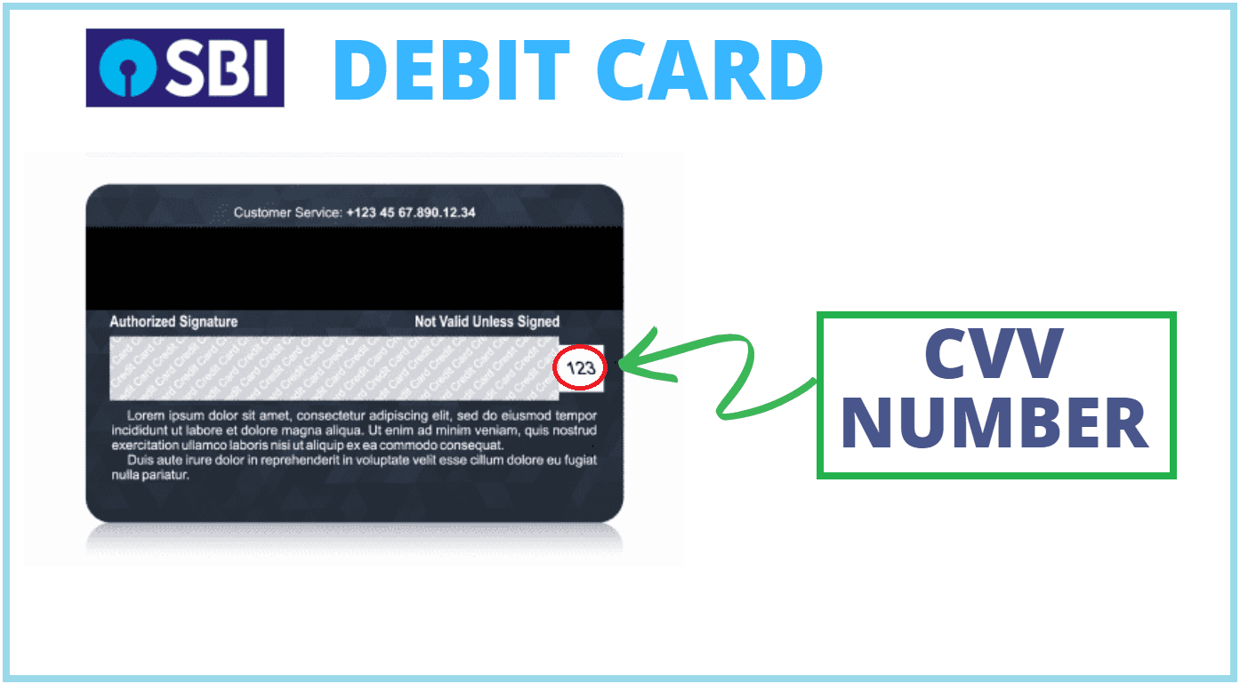 cvv number sbi debit card