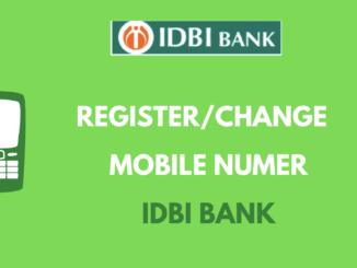 Register or Change Mobile Number in IDBI Bank