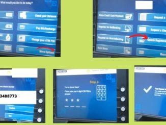 Register/Change the mobile number at HDFC Bank ATM