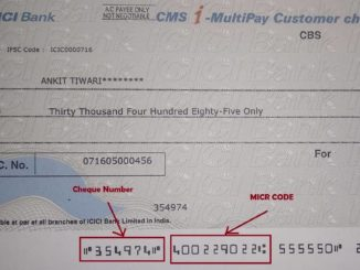 Cheque Number and MICR Code in icici bank