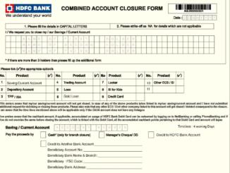 download online hdfc bank account closure form