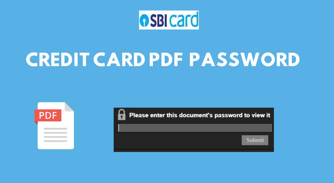 SBI Credit Card Statement PDF Password