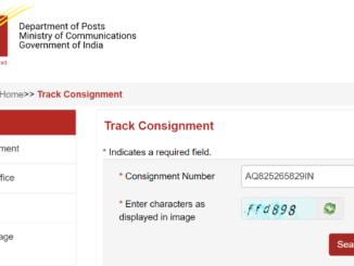 track Consignment Number in Speed Post