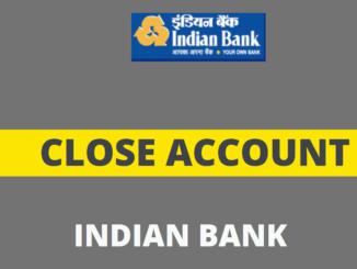 close indian bank account