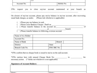 sbi account closure form